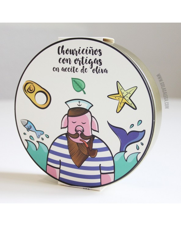 Chouriciños con Ortigas en Aceite de Oliva CASA DA AVOA Lata 9/11 piezas
