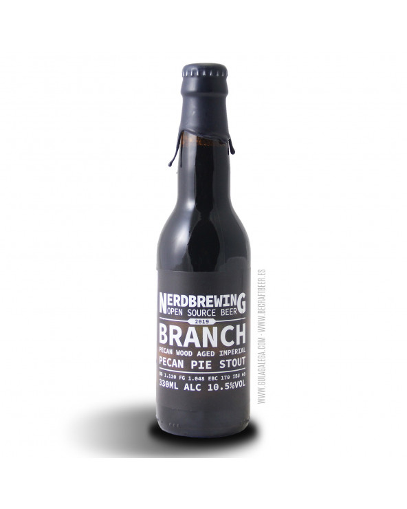 Cerveza Artesana NERDBREWING Branch Pecan Pie Stout 33 cl.