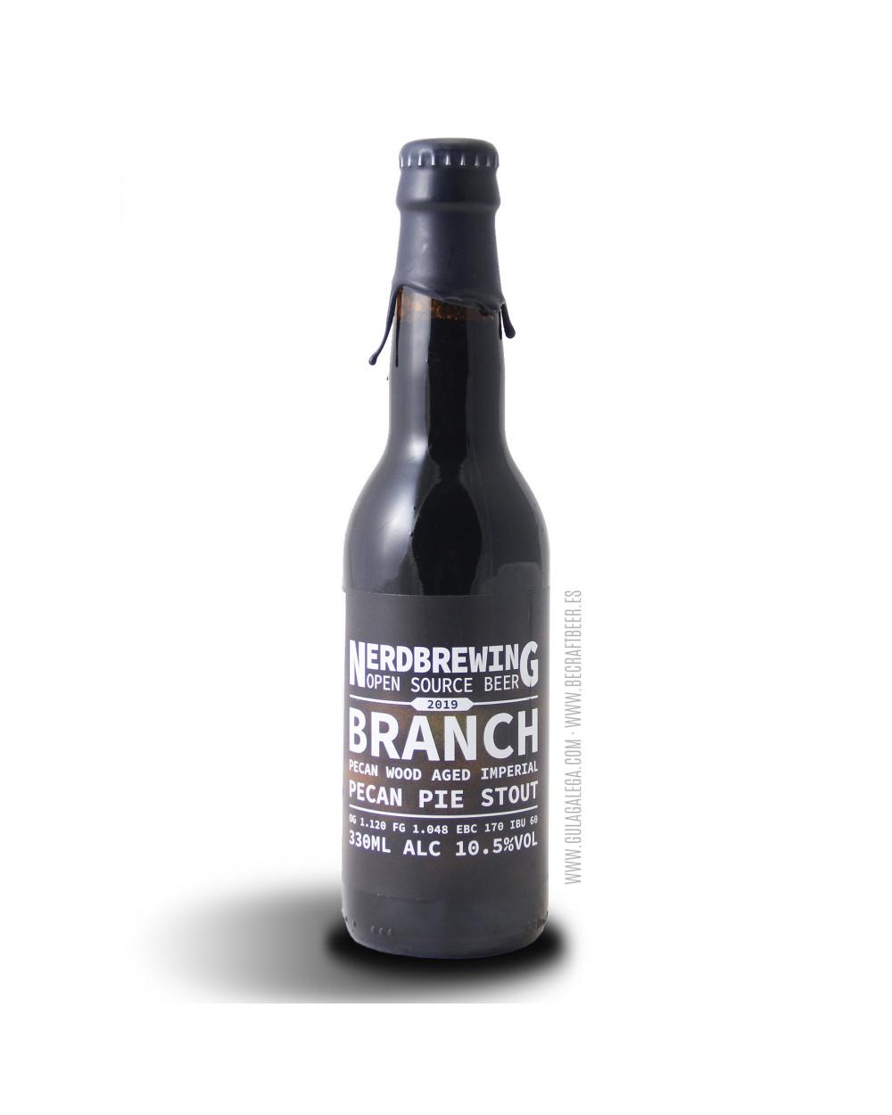Cerveza Artesana NERDBREWING Branch Pecan Pie Stout 33 cl.