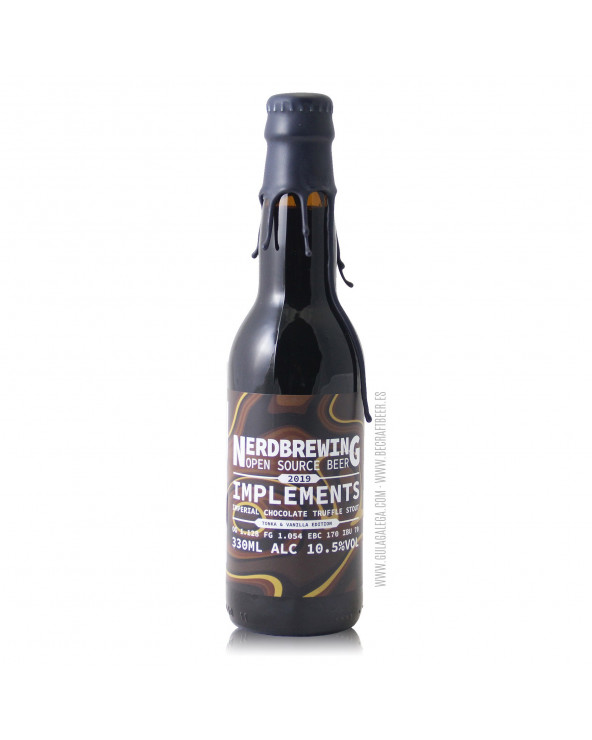Cerveza Artesana NERDBREWING Implements Imperial Chocolate Truffle Stout Tonka & Vanilla Edition 33 cl.