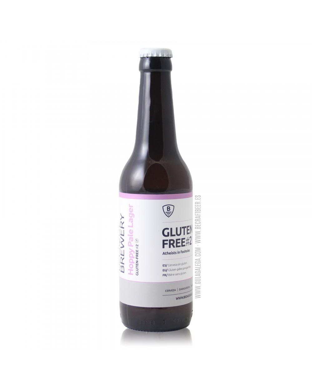 Cerveza Artesana Sin Gluten BIDASSOA Gluten Free 02 33 cl.