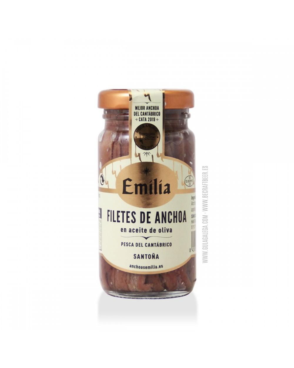 Filetes de Anchoa del Cantábrico EMILIA 100 gr.