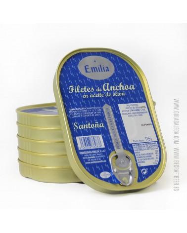 Filetes de Anchoa del Cantábrico CONSERVAS EMILIA 110 gr.