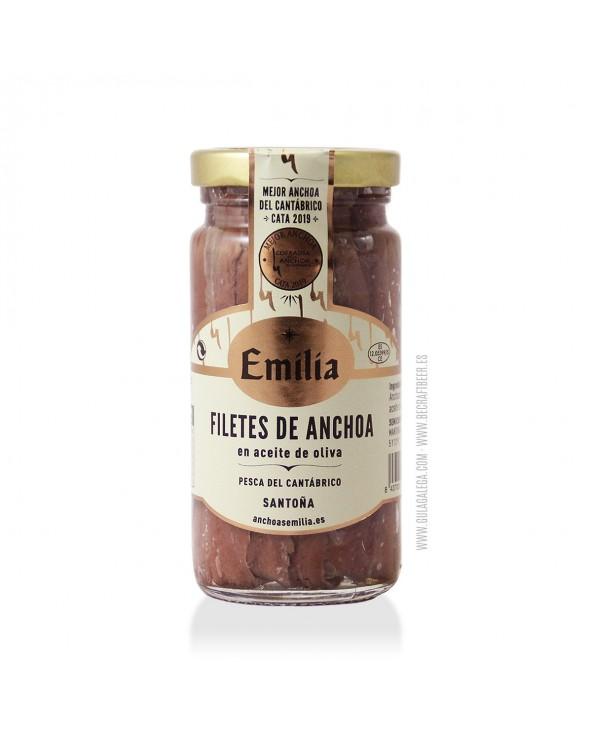 Filetes de Anchoa del Cantábrico CONSERVAS EMILIA 170 gr.