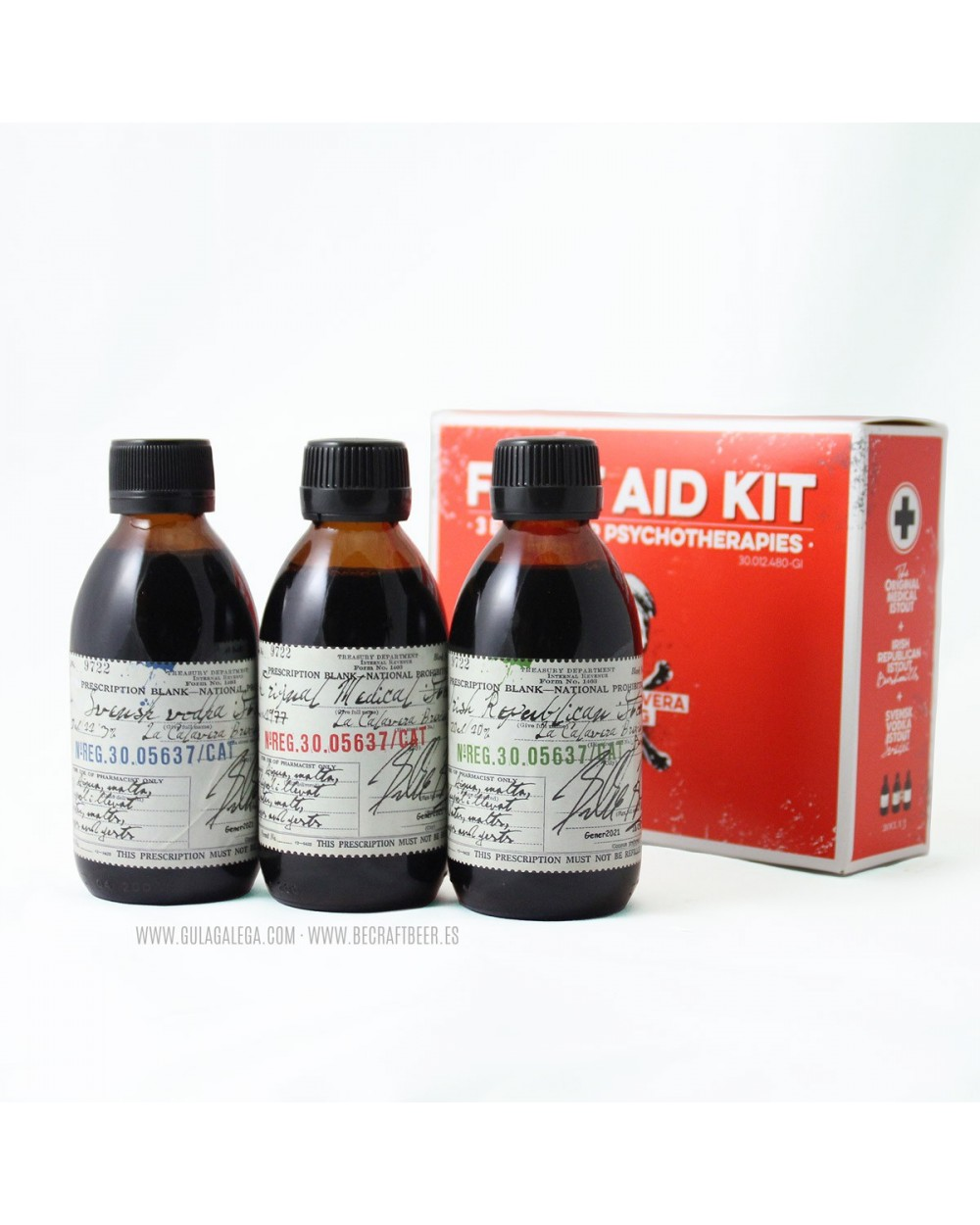 Cerveza Artesana LA CALAVERA First Aid Kit Pack 3 x 20 cl.