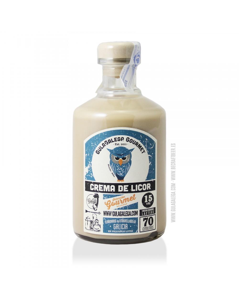 Crema de Licor GulaGalega Gourmet 70 cl.