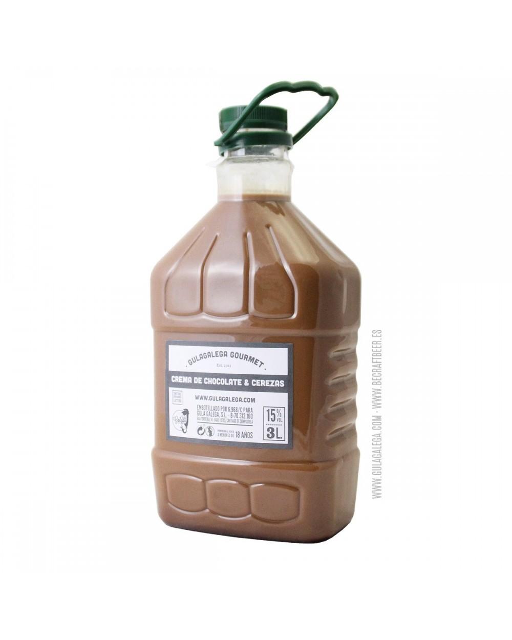 Crema de Chocolate y Cerezas GULAGALEGA GOURMET 3 Litros