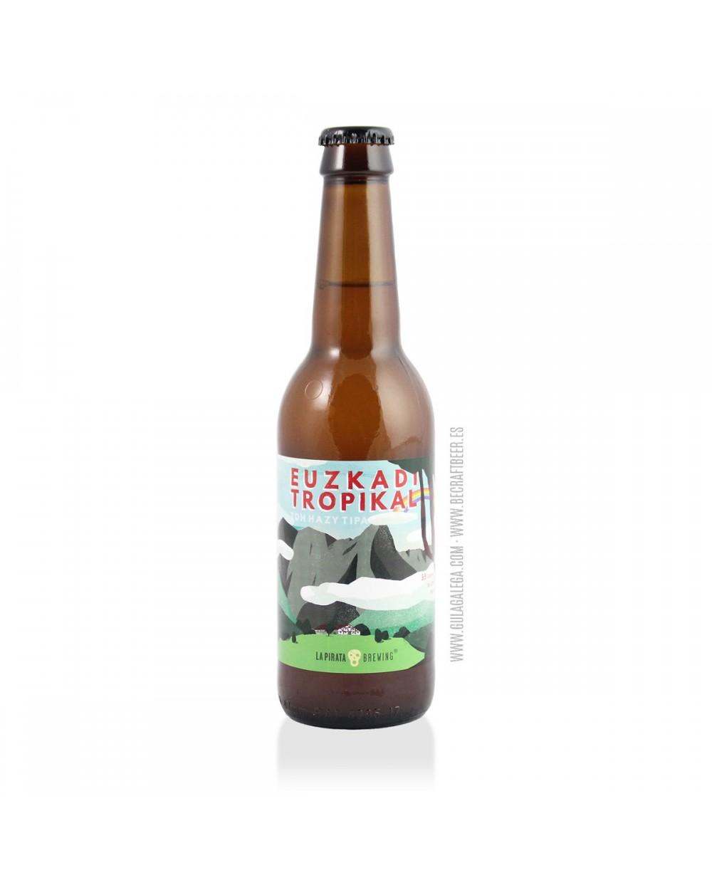 Cerveza Artesana LA PIRATA Euzkadi Tropikal 33 cl.