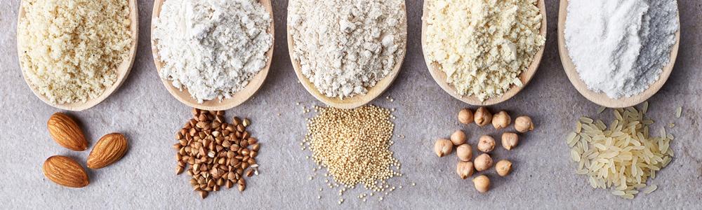Arroz, legumbres y harina